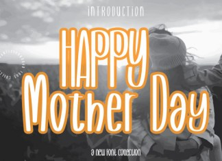 Happy Mother Day Display Font
