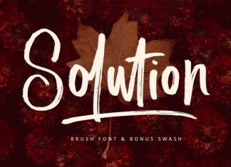 Solution Brush Font