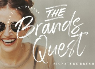 The Brands Quest Brush Font