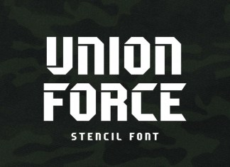 Union Force Display Font
