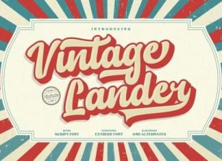 Vintage Lander Script Font