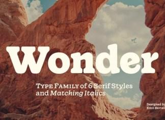 Wonder Serif Font
