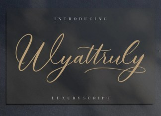 Wyattruly Calligraphy Font