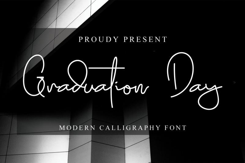 Graduation Day Handwritten Font