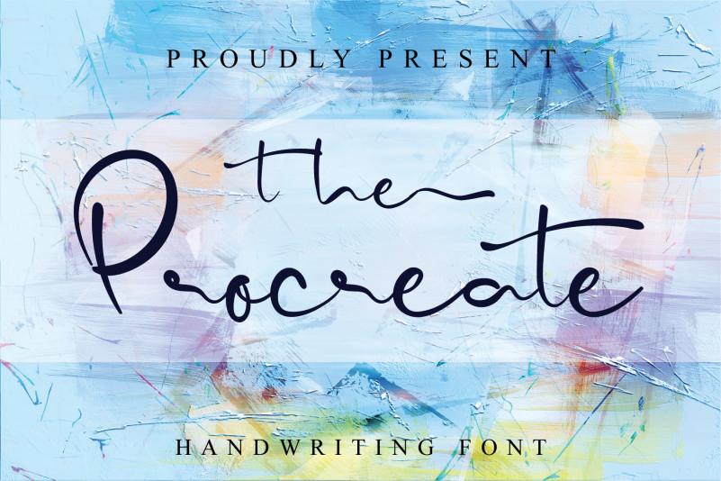 The Procreate Script Font