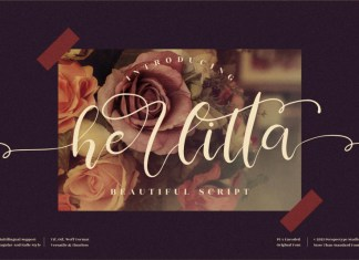 Herlitta Calligraphy Font