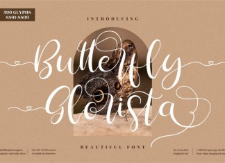 Butterfly Glorista Calligraphy Font