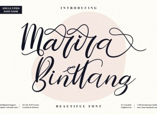 Marira Binttang Calligraphy Font
