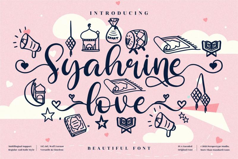 Syahrine Love Calligraphy Font