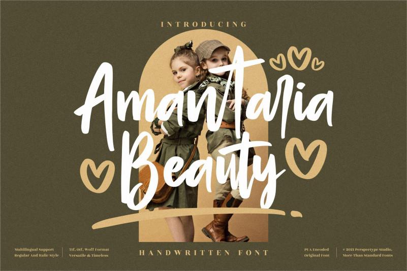 Amantaria Beauty Script Font