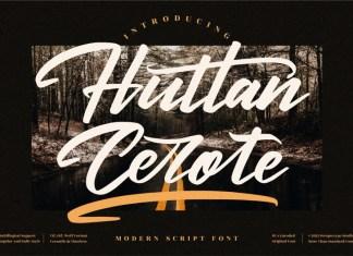 Huttan Cerote Script Font
