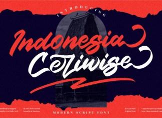 Indonesia Ceriwise Script Font