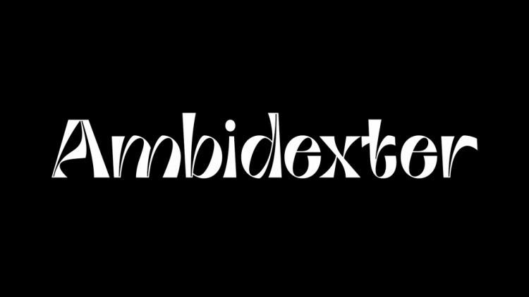 Ambidexter Display Font