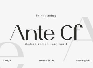 Ante Cf Sans Serif Font
