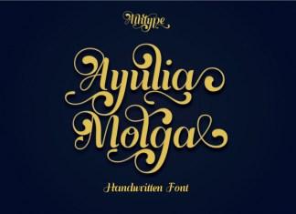 Ayulia Molga Script Font