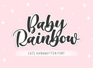 Baby Rainbow Calligraphy Font