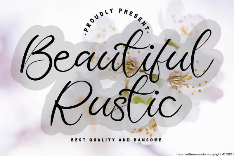 Beautiful Rustic Calligraphy Font
