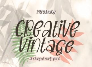 Creative Vintage Display Font