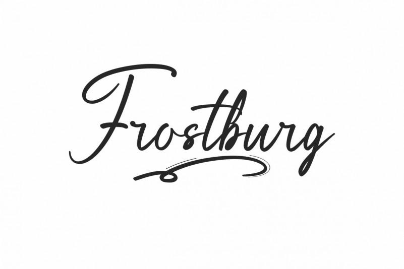 Frostburg Handwritten Font