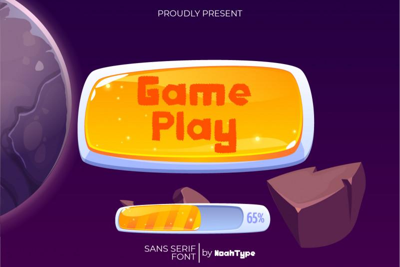 Game Play Display Font