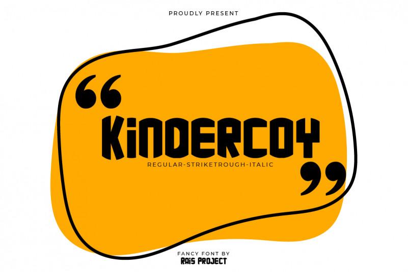 kindercoy Display Font