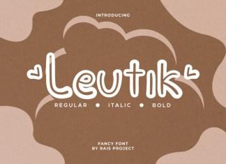 Leutik Display Font