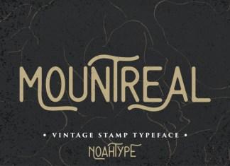 Mountreal Vintage Font