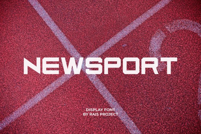Newsport Sans Serif Font