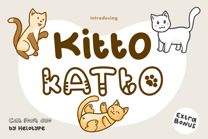 Katto Outlined Display Font