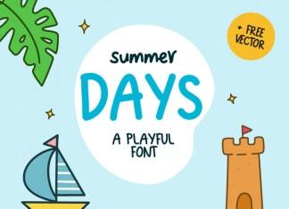 Summer Days Display Font
