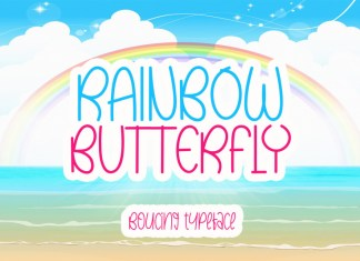 Rainbow Butterfly Display Font