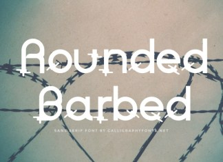Rounded Barbed Display Font