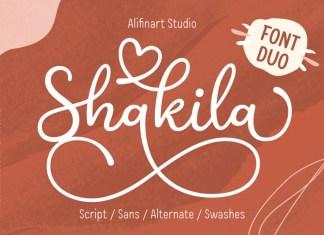 Shakila Handwritten Font Duo