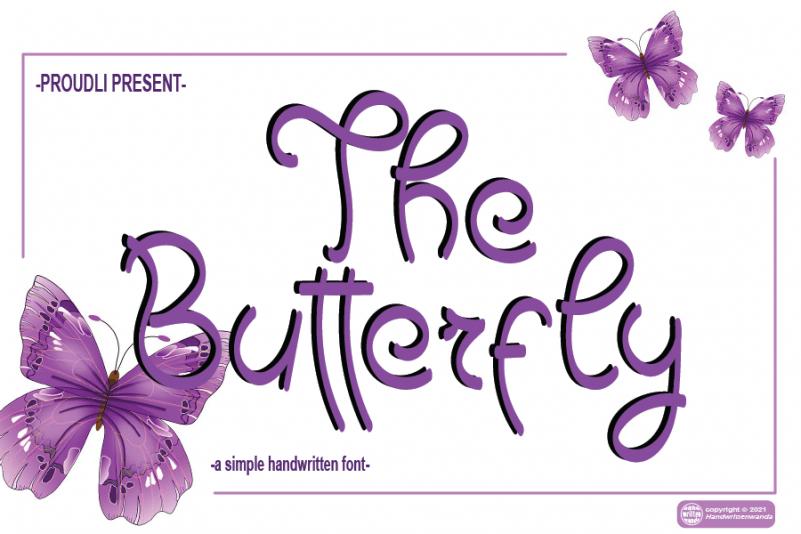 The Butterfly Handwritten Font