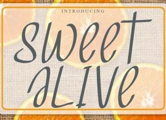 Sweet Alive Display Font