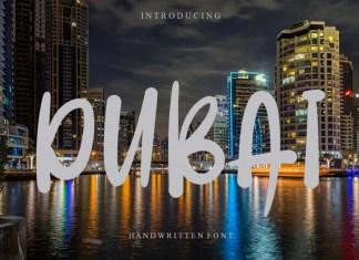 Dubai Script Font