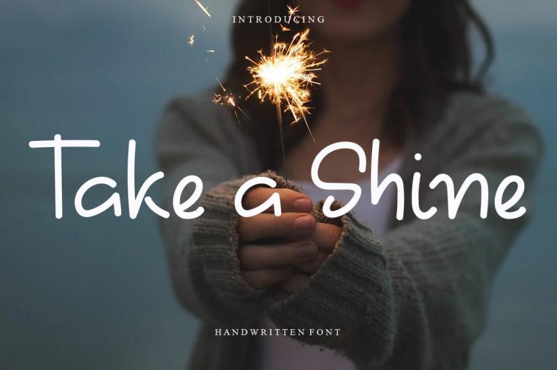 Take A Shine Display Font
