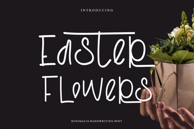 Easter Flowers Handwritten Font