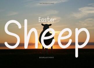 Easter Sheep Display Font
