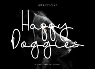 Happy Doggies Handwritten Font