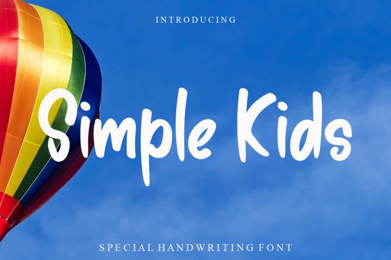 Simple Kids Display Font