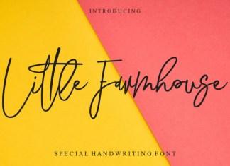 Little Farmhouse ,Handwritten Font
