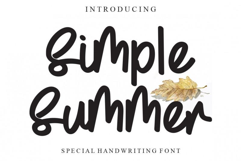 Simple Summer Script Font
