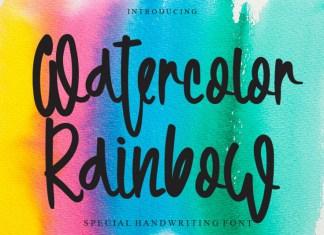Watercolor Rainbow Script Font