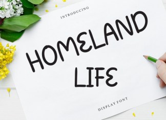 Homeland Life Display Font