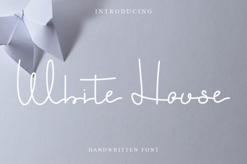 White House Handwritten Font