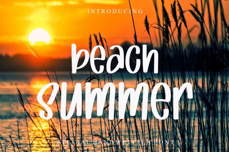 Beach Summer Font