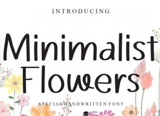 Minimalist Flowers Font