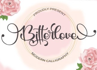 BitterloveCalligraphy Font