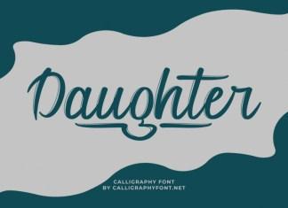 Daughter Brush Font